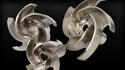 Aluminum Machined Impellers
