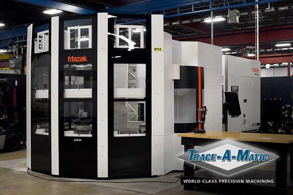 New Mazak HCR-5000 5-Axis Automated Machining Center Installation at Trace-A-Matic North