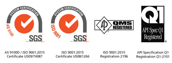 Quality System Certifications